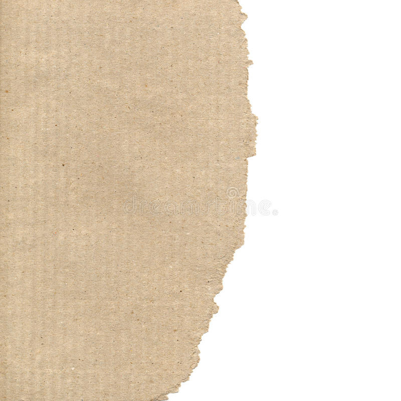Corrugated cardboard. Brown corrugated cardboard sheet useful as a background, with copy space stock photography