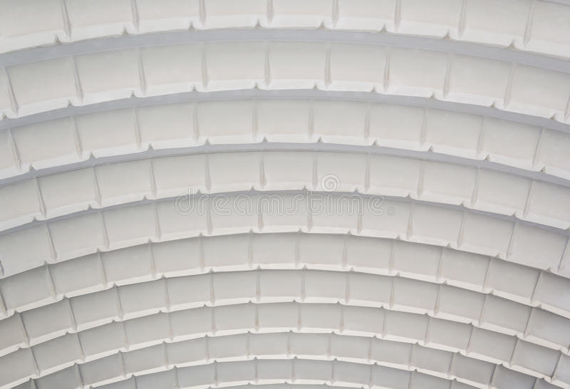 Corrugated curved sheet