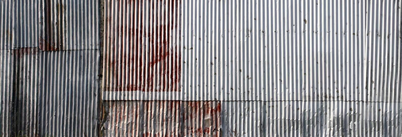 Corrugated iron stock image
