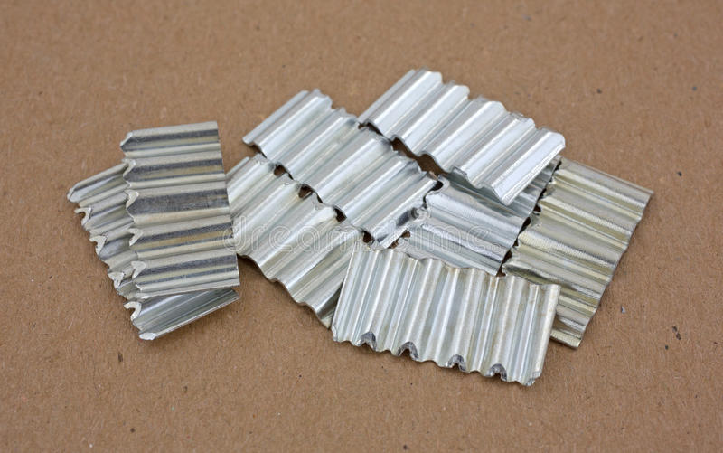 Corrugated joint fasteners royalty free stock image