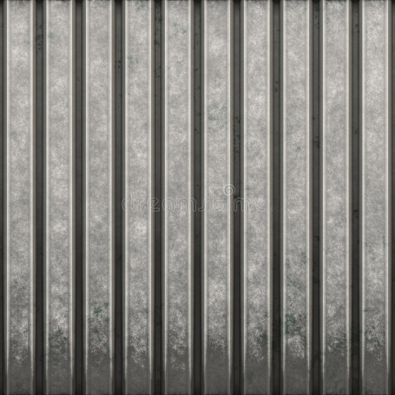 Corrugated Metal. Some corrugated metal / building material with vertical ridges - a great background texture royalty free illustration