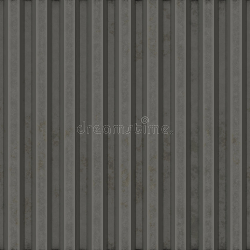 Corrugated metal. Surface with corrosion seamless texture royalty free illustration