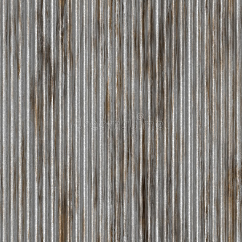 Corrugated Metal Pattern. A corrugated metal texture with rust that tiles seamlessly as a pattern. Makes a great background or backdrop when tiled vector illustration