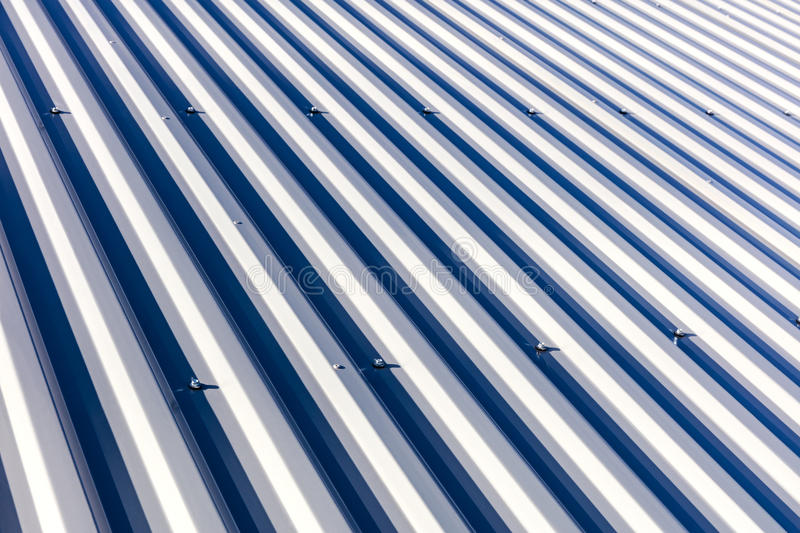 Corrugated Metal Roof Background Texture In Sunlight Stock ...