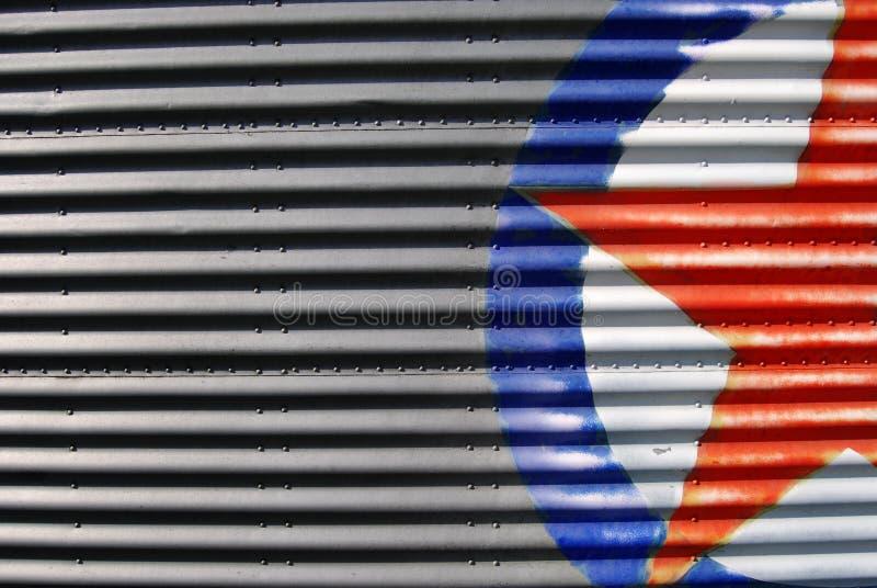 Download Corrugated metal sheet stock image. Image of steel, iron - 7493433