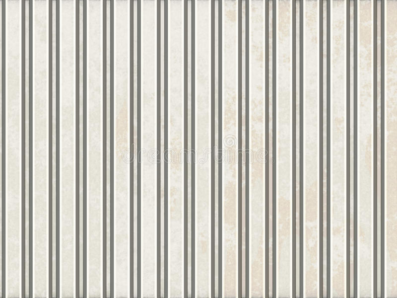 Corrugated metal. Corrugated stained steel with grooves stock illustration