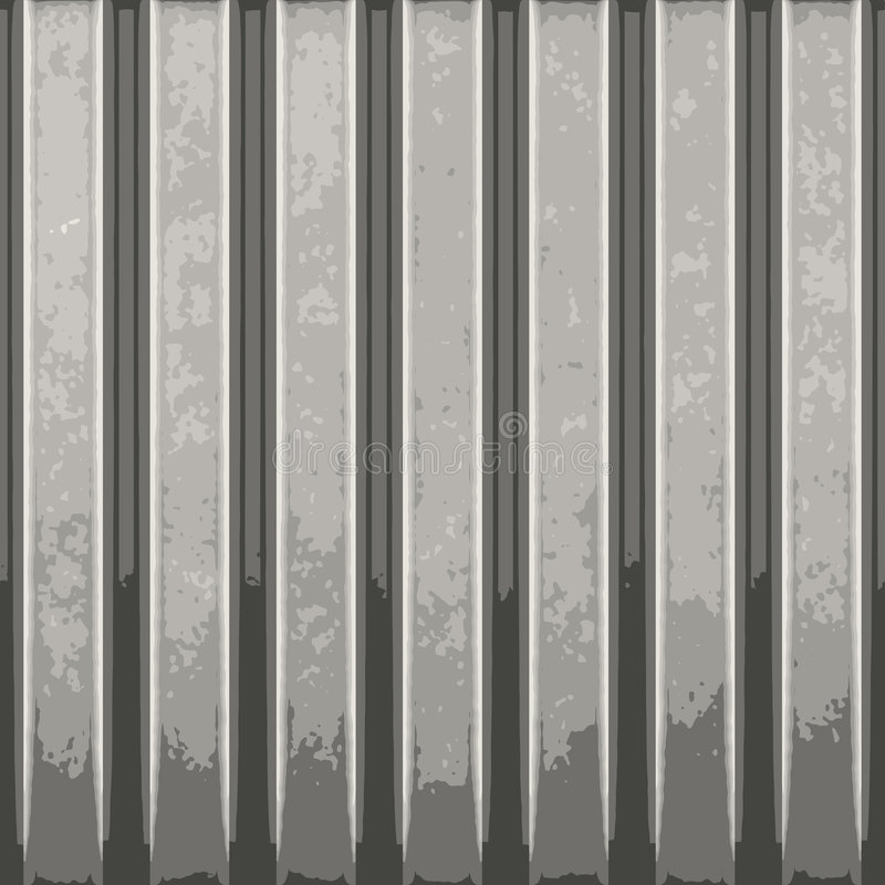 Corrugated Metal Vector. Corrugated metal with vertical ridges. A great background texture. This vector contains a traced image. The original can be found in my stock illustration
