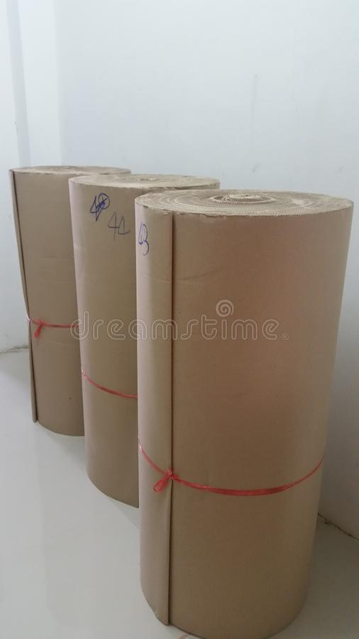 Corrugated Paper stock image