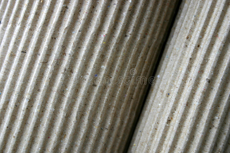 Download Corrugated Paper, Rolled-up, Close-up Stock Image - Image: 19029
