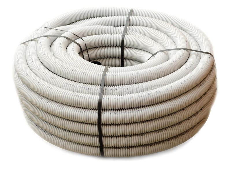 Corrugated pipe royalty free stock images