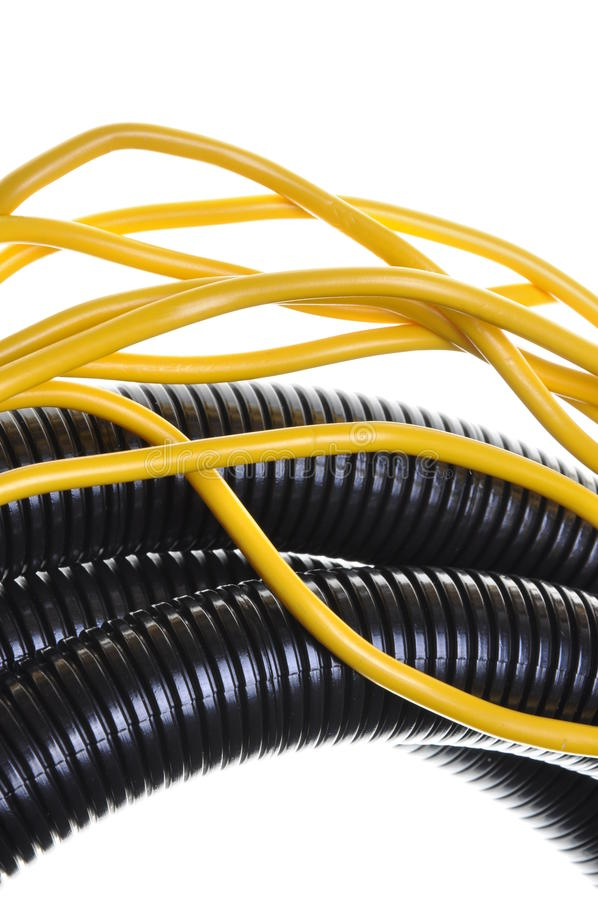 Download Corrugated Pipe With Cables Stock Image - Image: 33608441