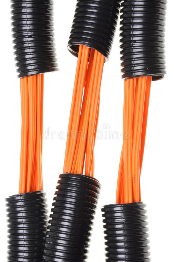 Download Corrugated Pipe With Cables Stock Photo - Image: 41289038
