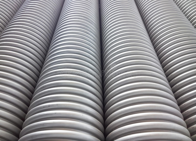 Corrugated plumbing pipe royalty free stock photography