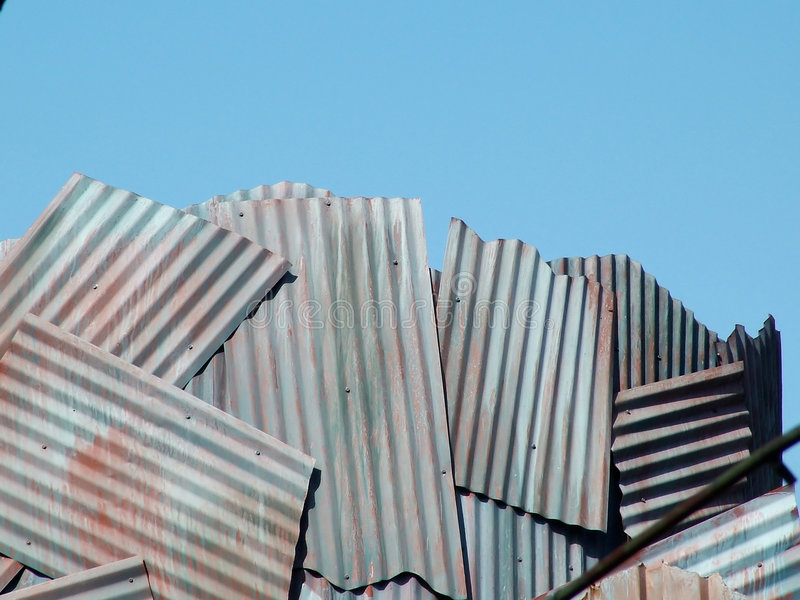 Download Corrugated Sky stock photo. Image of homemade, rust, summer - 125460