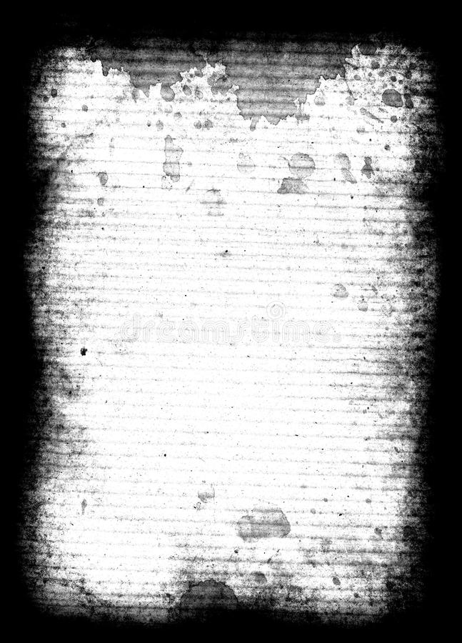 Corrugated Texture. This is a scan of a vintage piece of corrugated cardboard with spill stains stock photos