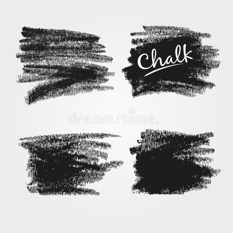 Corrugated texture  of chalk and charcoal. Vector brush strokes. Decorative frame. High resolution image. stock illustration