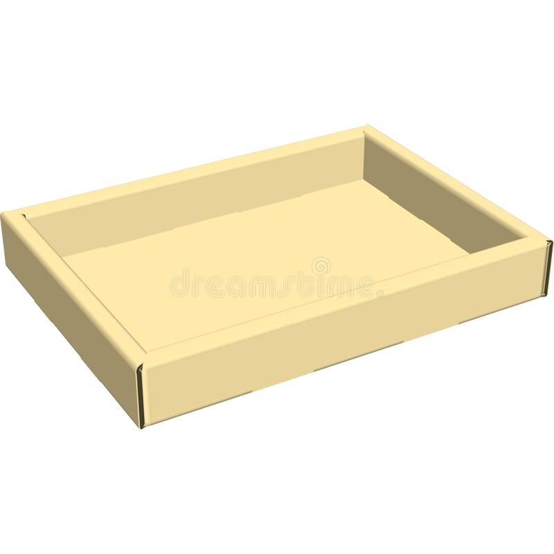 Corrugated Tray. That could be used for shipping product in it royalty free illustration