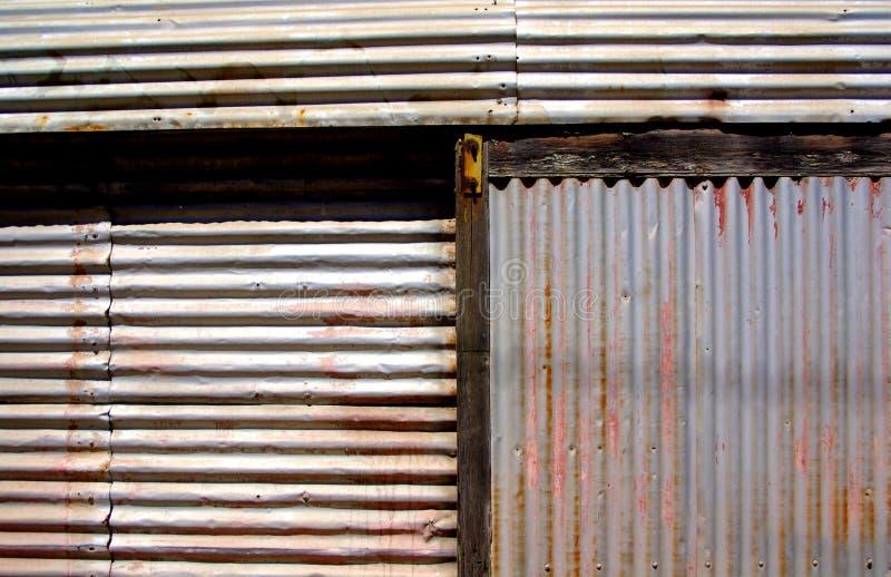 Corrugated Wall stock image