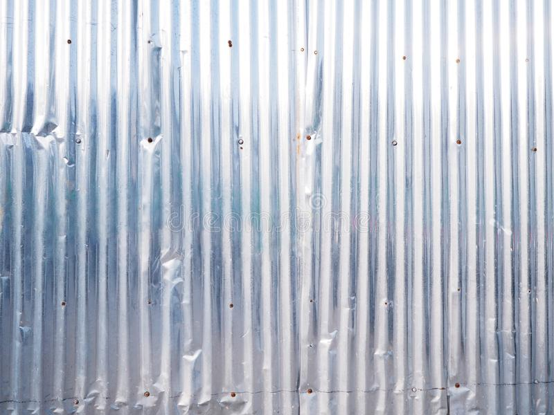 Corrugated zinc wall for metal texture and background royalty free stock photography