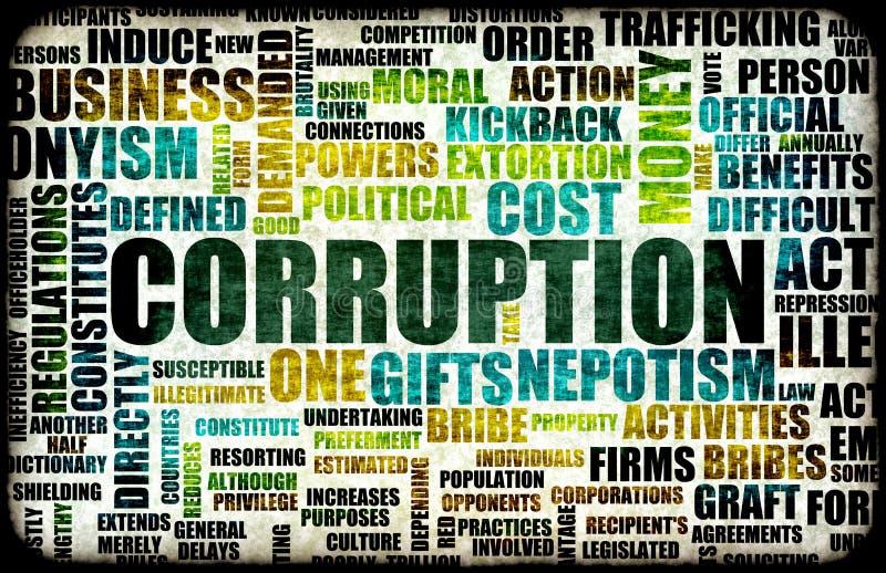 Corrupção ilustração royalty free