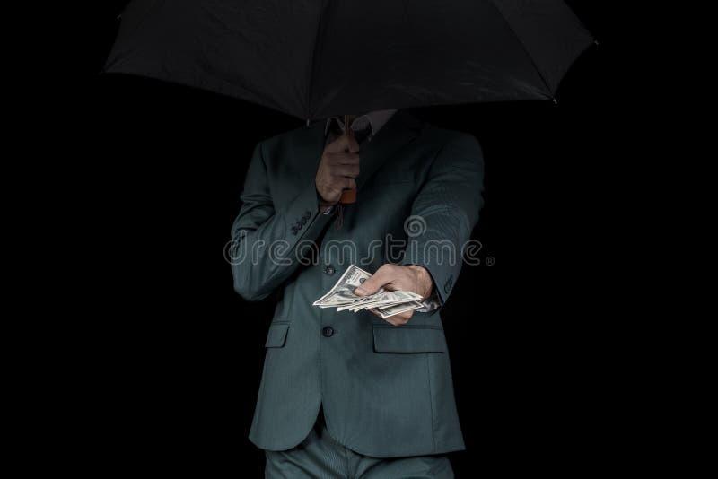 Corrupção do homem foto de stock