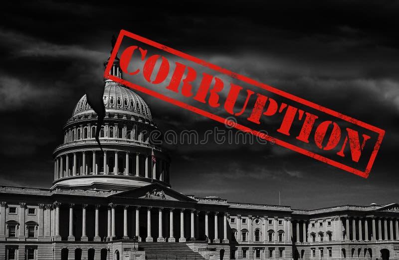 Corrupción del capitol del Washington DC fotos de archivo