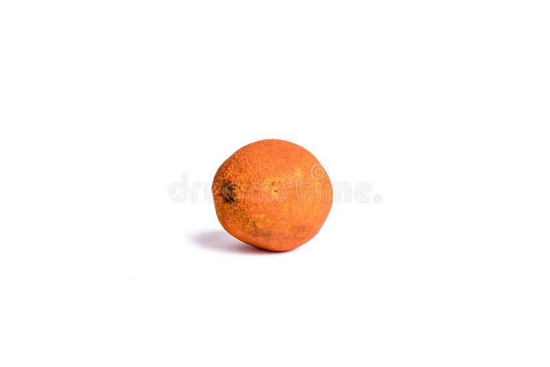 Corrupt fruit. Corrupt Stale Little moisture Aged Metamorphic Fruits White bottom photos oranges royalty free stock photos