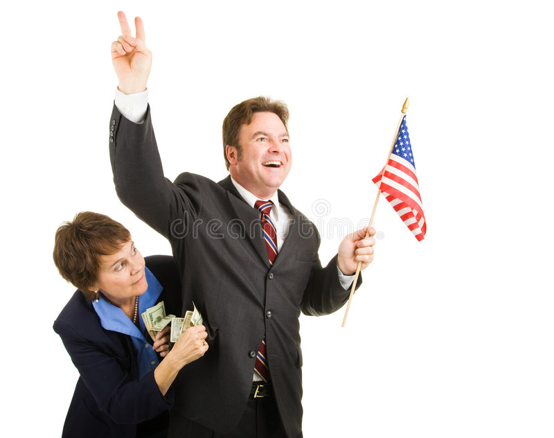 Corrupt Politician stock photo