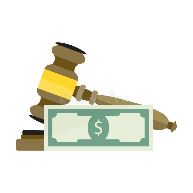 Corrupte Hof en Rechtvaardigheid royalty-vrije illustratie