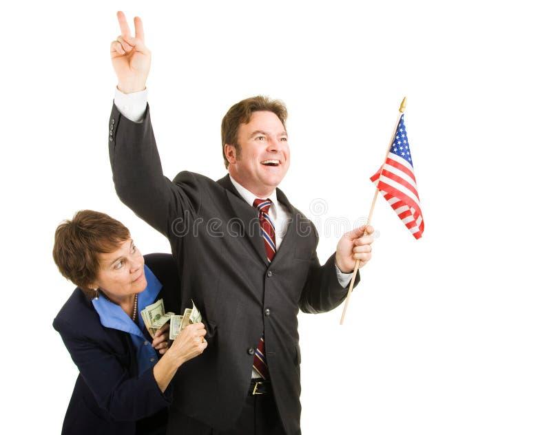 Corrupte Politicus stock foto