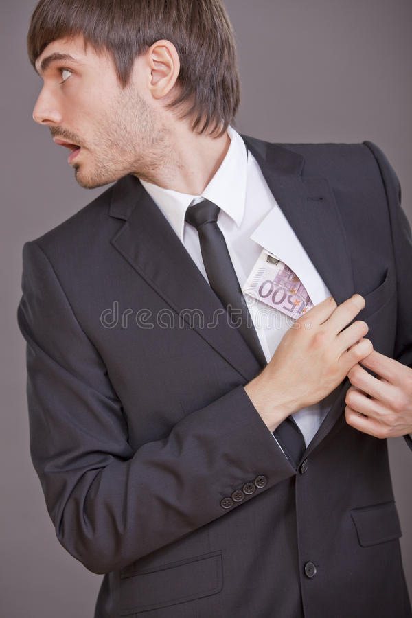 Corrupted businessman stock photography
