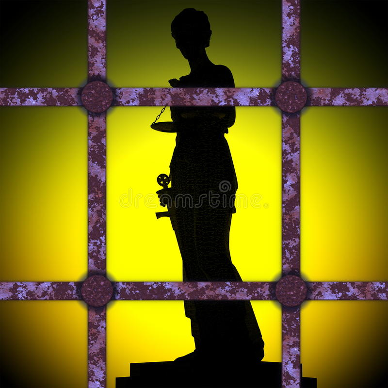 Corrupted Themis. Justice and law symbol statue stock photos