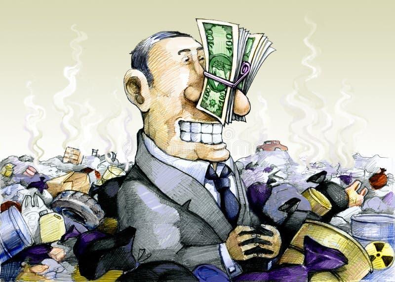 corruptie stock illustratie