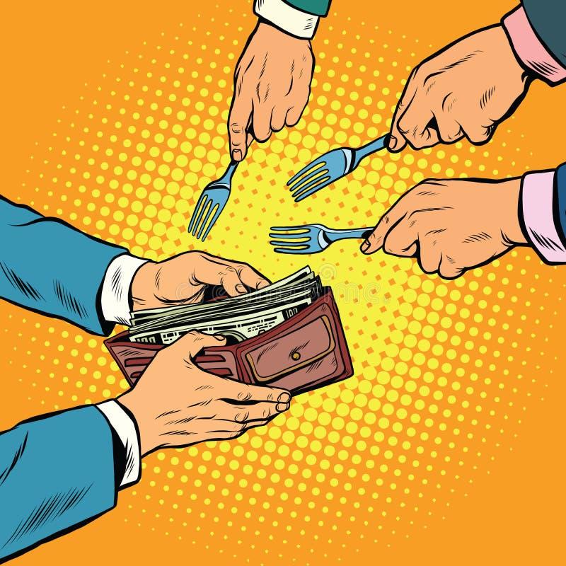 Corruptie en diefstal van geld royalty-vrije illustratie