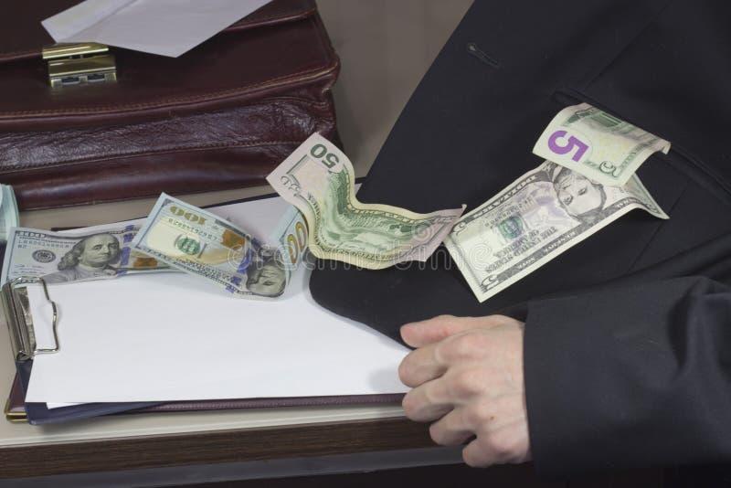 Corruptie en omkoperij royalty-vrije stock fotografie