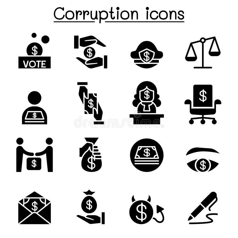corruption ilustração royalty free