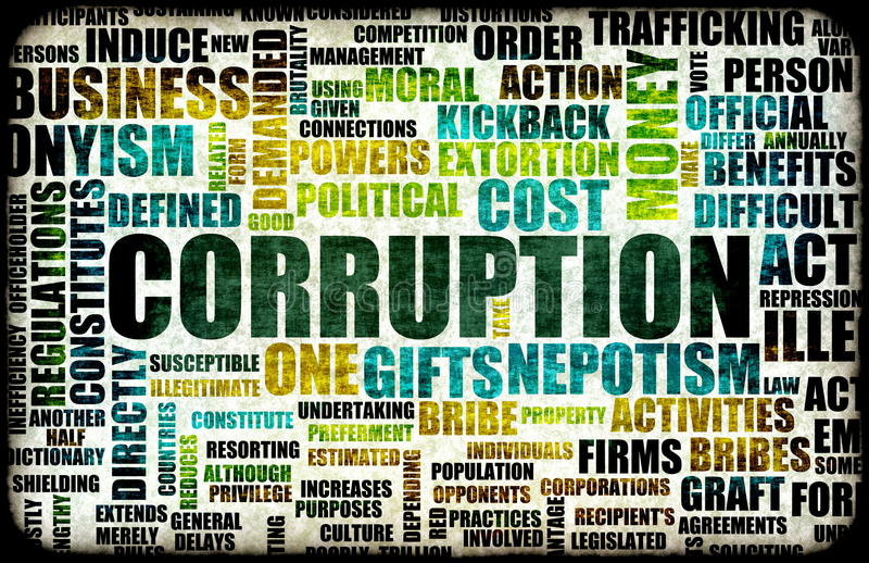 Corruption royalty free illustration