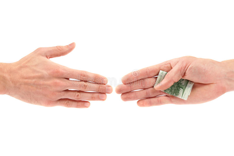 Download Corruption Concept: Hand Giving Bribe To Other Stock Image - Image: 17212063