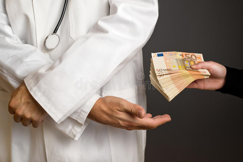 Corruption in Health Care Industry stock photography