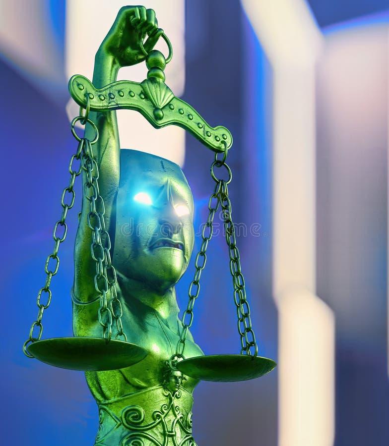 Corruption of Justice Sytem - 3d rendering royalty free illustration