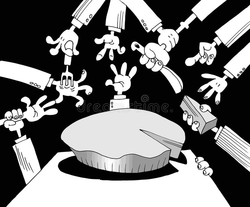 Download Corruption in politics stock vector. Image of graphics - 23127662