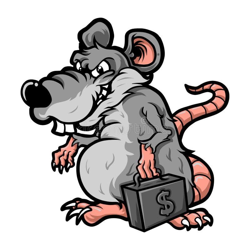 Corruptor van de beeldverhaalrat stock illustratie