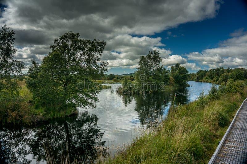 Cors Caron National Nature Reserve du sud du pays de Galles images libres de droits