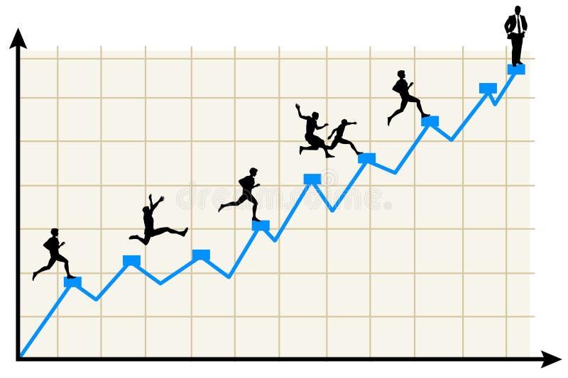 Corsa alla cima illustrazione vettoriale