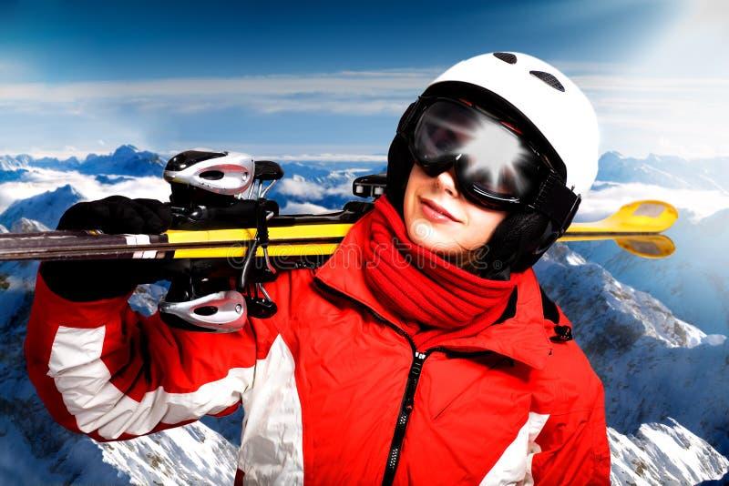 Corsa con gli sci alpina fotografia stock libera da diritti