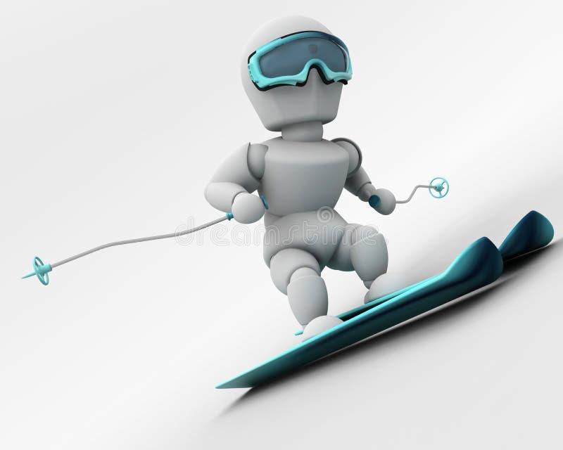 Corsa con gli sci alpina illustrazione vettoriale