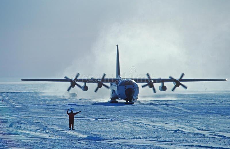 Corsa con gli sci C-130 fotografie stock libere da diritti