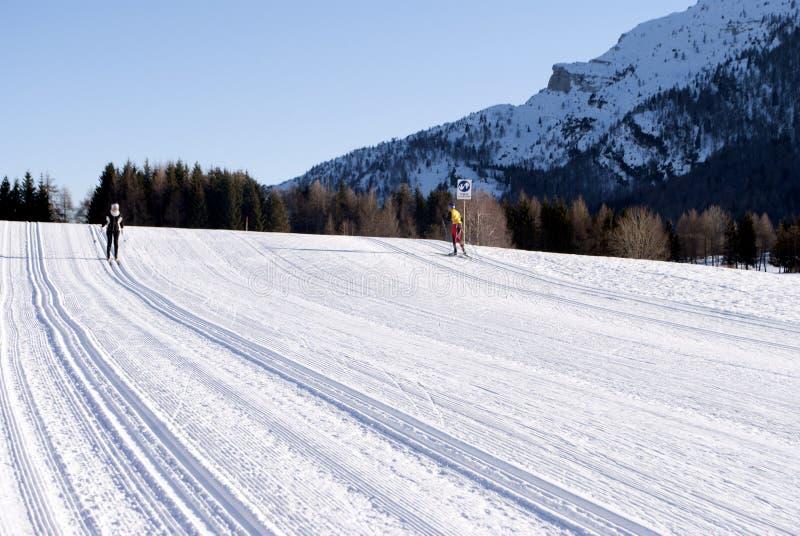 Corsa con gli sci del paese fotografia stock