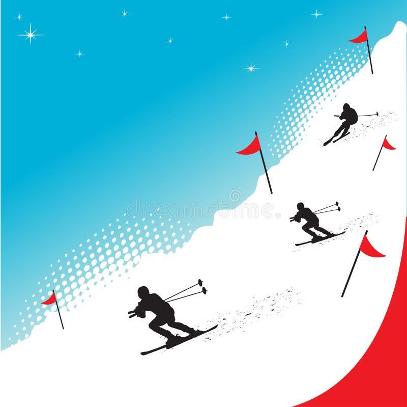 Corsa con gli sci della neve