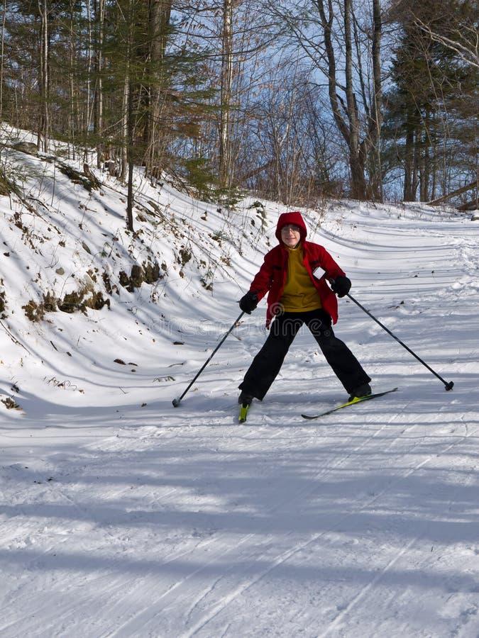 Corsa con gli sci nordica - bambino immagine stock libera da diritti